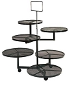 Wrought Iron 6 Circle Stand