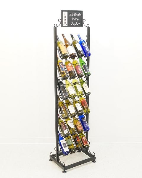 24 Bottle Wine Tower Retail Fixtures Merchandiser