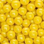 Yellow Shimmer Sixlets - 12lbs