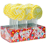 Yellow & White Whirly Pops - 1.5oz - 24ct