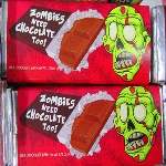 Zombies Need Chocolate Too - 24ct