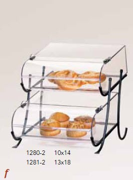 2 Tier Wire Display w/Round Nose Bins