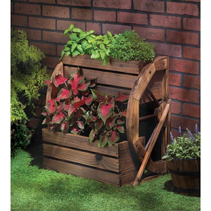 2 Tier Wagon Wheel Planter