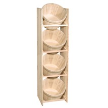 Half Peck Wood Display Rack