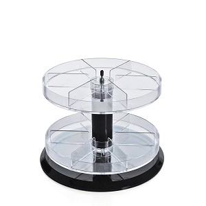 Divided Tiered Rotating Counter Display