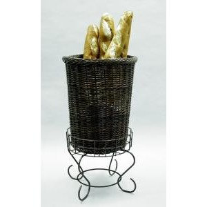 Large Willow Basket and Pedestal