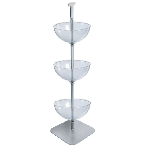3 Tiered Bowl Floor Display - 16""