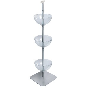 3 Tiered Floor Bowl Display - 14""