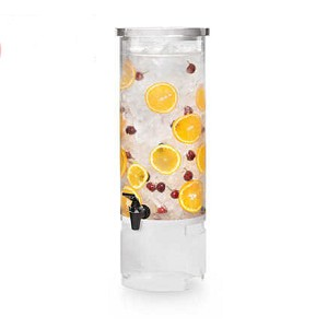 3 Gal Round Beverage Dispenser - Clear Acrylic