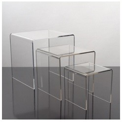 Large Acrylic Display Risers - 3pc