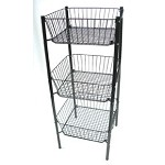 3-Tier Wire Dump Bin - White