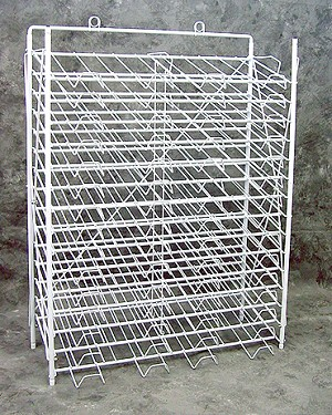 "White Slot Paper Rack, 12"" x 12"" - 30 Slots"