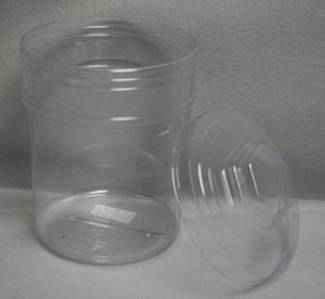 166 oz Round Tubs with Lids - 20ct