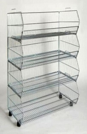 4-Tier Chrome Stacking Bracket Display