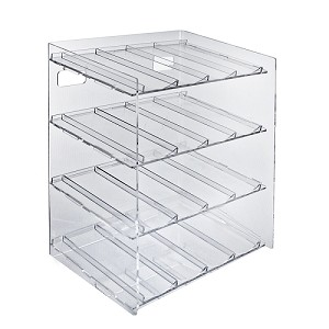 4 Tier 16 Compartment Cosmetic Display