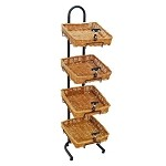4 Square Willow Basket Display - Sign Holders