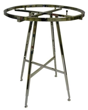 "42"" Folding Round Rack- Chrome"