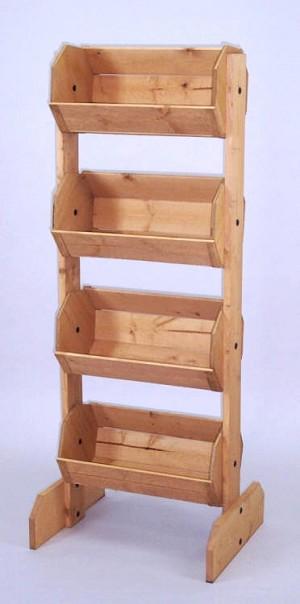 Wood Bin Display Fixture Vegetable Stand Retail