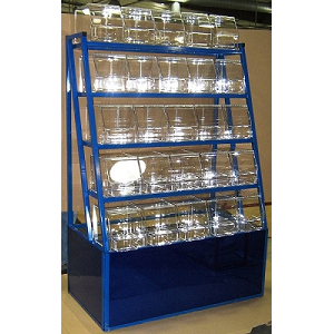 5 Tier Mirrored Candy Rack - Color Choice
