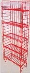 Adjustable 5 Shelf Snack Rack - Red