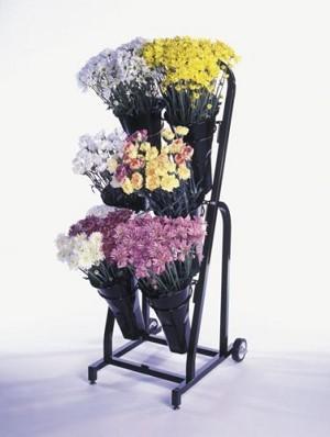 6 Vase Floral Cart Flower Stand Display Retail Display