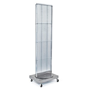 Mobile Pegboard Floor Stand - 16'' x 66''