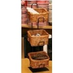 Counter Display - 3 Basket Wicker