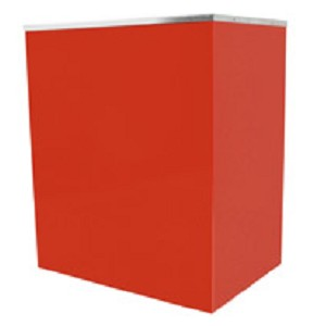 Red Classic Pop Popcorn Stand