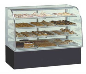 Glass Bakery Display - Non-Refrigerated - Curved Front  - 40""