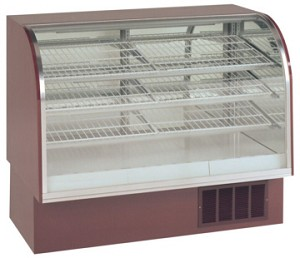 "Curved Front Refrigerated Bakery Case - 40"" Tall"