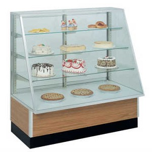 Slant Front Bakery Display - Non Refrigerated - 48""