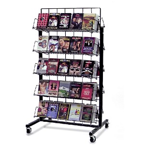 White 10 Shelf Mobile Candy Rack