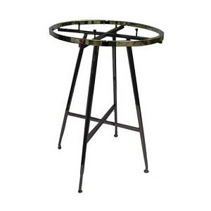 "36"" Folding Round Rack- Black- 1-1/2"" Rect. Tube"