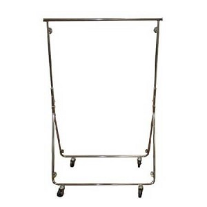 Chrome Easy Fold Garment Rack