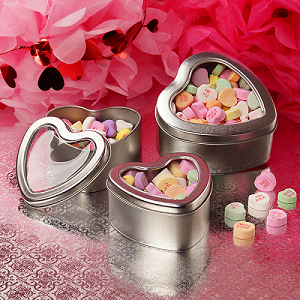 Heart Shaped Window Tins - 6oz - 24ct