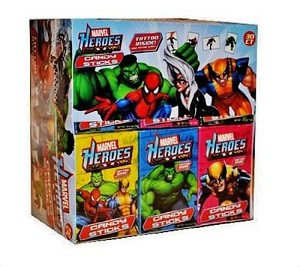 Marvel Hero Candy Stick w/ Tattoo - 30ct