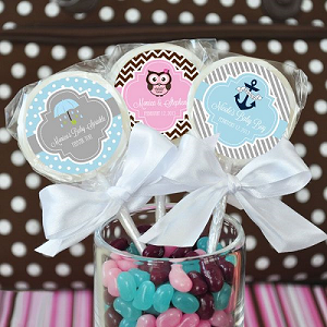 Personalized Baby Lollipops - Strawberry - 24ct