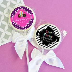 Personalized Birthday Lollipops - 24ct