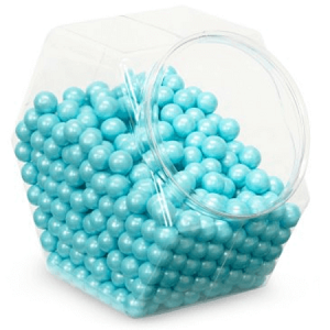 Powder Blue Shimmer Sixlets - 12lbs
