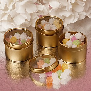 Small Gold Windowed Tins - 24ct