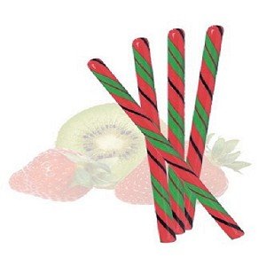 "Strawberry Kiwi Candy Sticks - 7.25"" - 100ct"