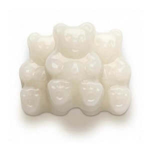 White Strawberry-Banana Gummi Bears - 20lbs
