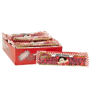 Abba-Zaba's Sour Wild Strawberry Taffy -24ct