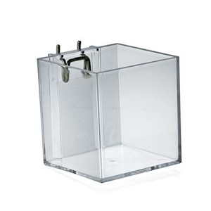 "Cube Bin for Pegboard/Slatwall 4"" - 4ct"