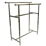 Black Straight Double Bar Rack