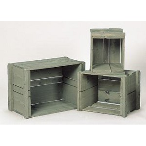 Solid Pine Apple Crate 3 pc Set - Color Choice