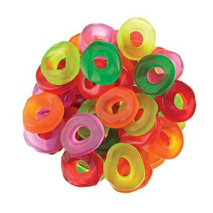 Assorted Mini Gummi Rings - 5lbs