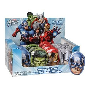 Avengers Hero Tin - Sour Candy  - 12ct