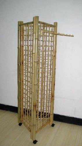 Three Sided Bamboo Gridwall Fixture