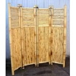 "Bamboo Four Panel Screen Divider - 18"" W Panel"